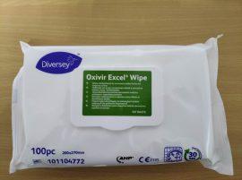 Fertőtlenítő kendő, Oxivir Excel Wipe, tisztító- és fertőtlenítő kendő (100 db/csomag)