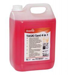 TASKI Sani 4 in 1 koncentrált tisztító-, fertőtlenítőszer, vízkőoldó és illatosító hatással (5 liter)