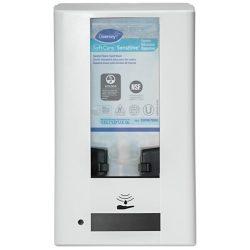 Kézfertőtlenítő adagoló, érintésmentes, de mechanikusan is működtethető adagoló folyékony szappanhoz, kézfertőtlenítőhöz