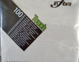 Szalvéta 2 rétegű, 33x33cm, barna, 100% ECO (100 lap/csomag) Infibra