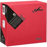 Szalvéta piros 38x38 cm, 2 rétegű (40 lap/csomag) Infibra