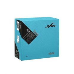 Szalvéta kék 38x38 cm, 2 rétegű (40 lap/csomag) Infibra