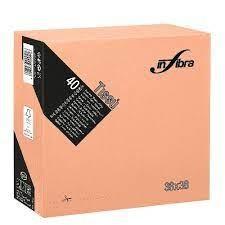Szalvéta barack 38x38 cm, 2 rétegű (40 lap/csomag) Infibra
