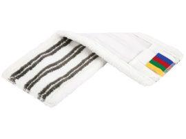 Vileda MicroLite, fehér-szürke (40 cm) mop huzat, zsebes-füles, vágott, mikro és dörzsi
